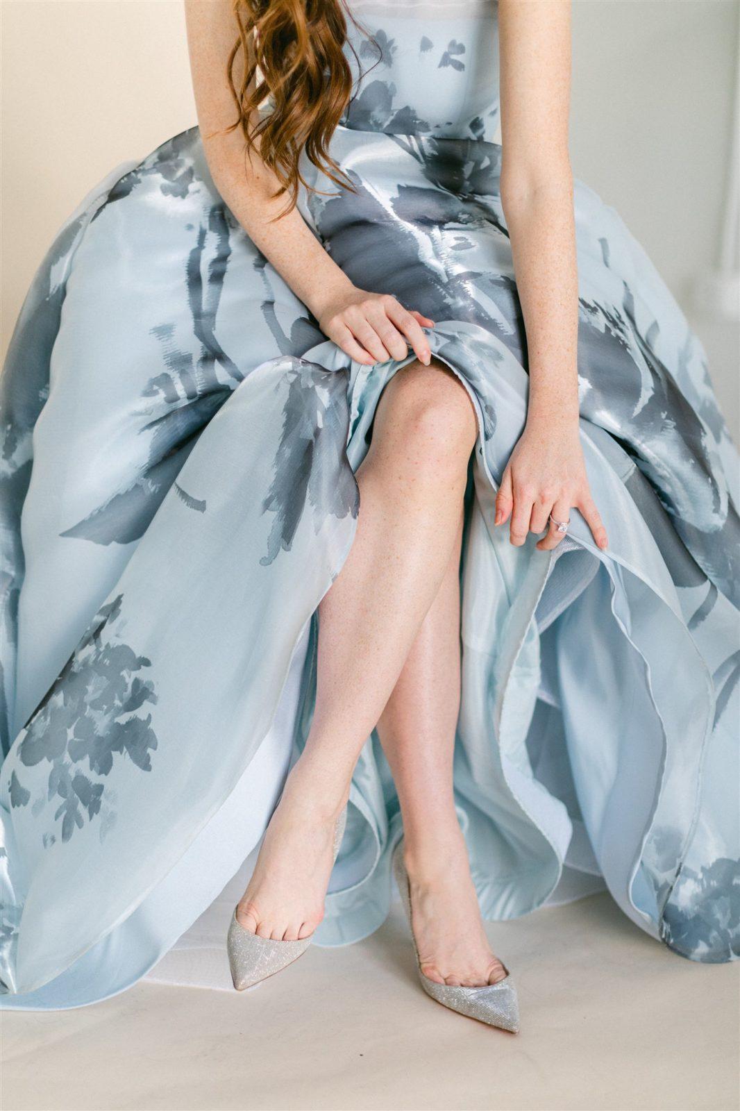 Blue Mackenzie Bittingham Wedding Gown