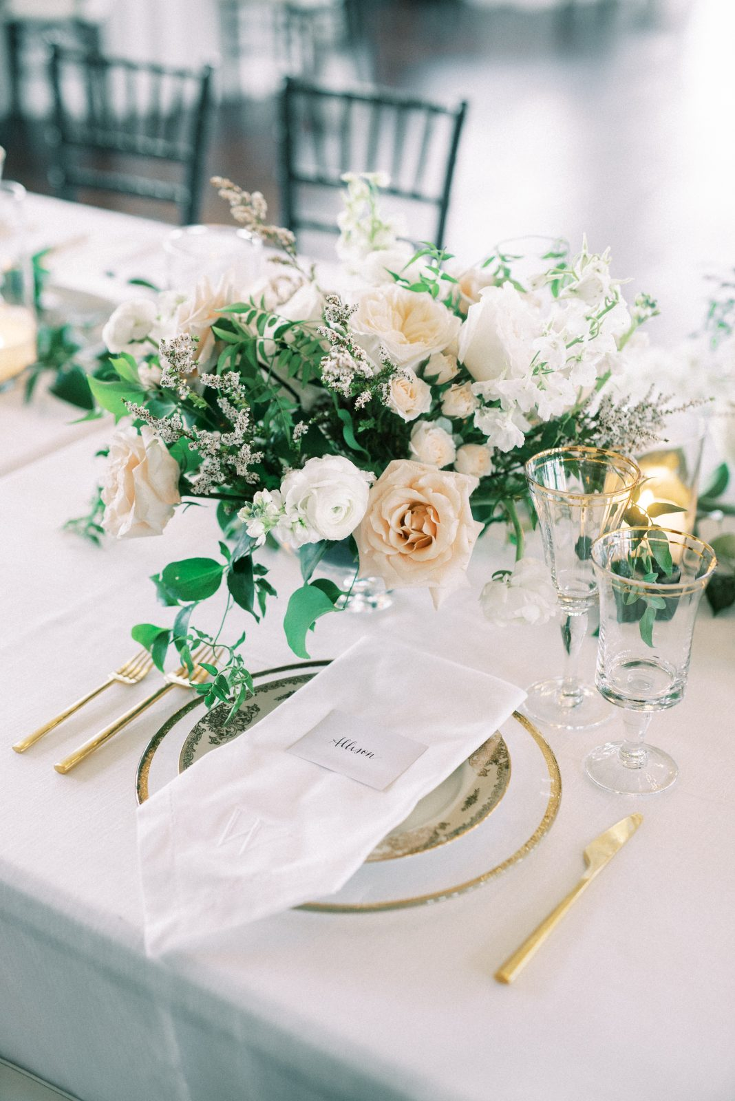 Gold wedding flatware
