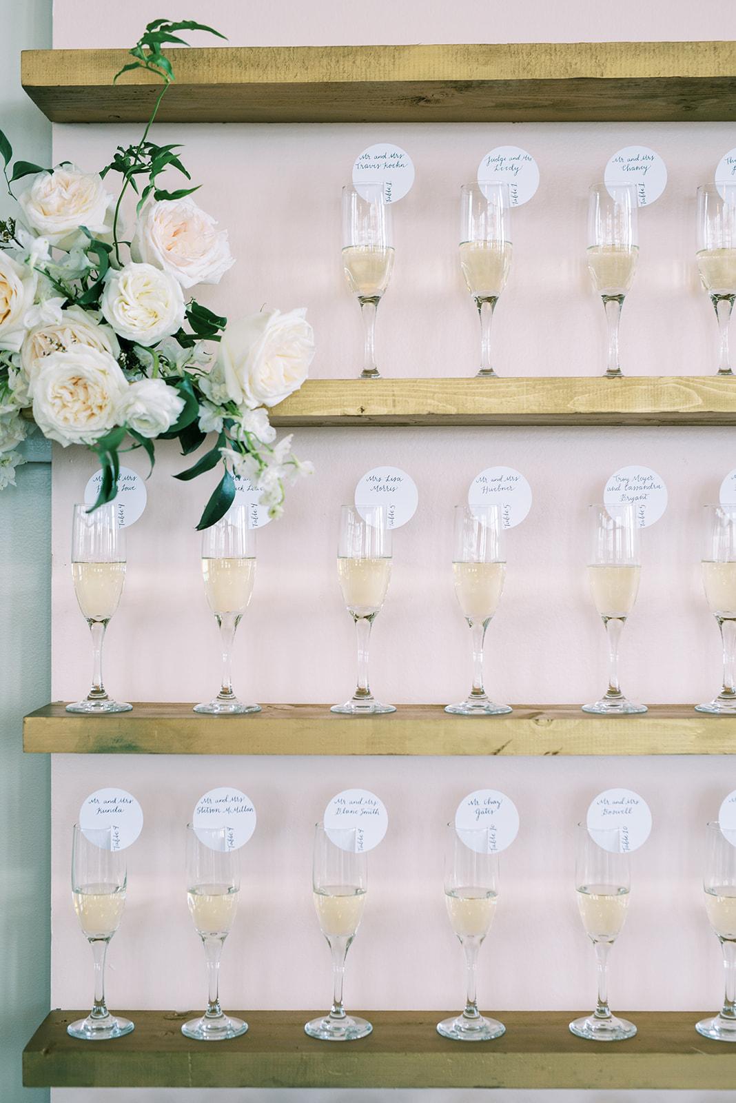 Wedding champagne wall