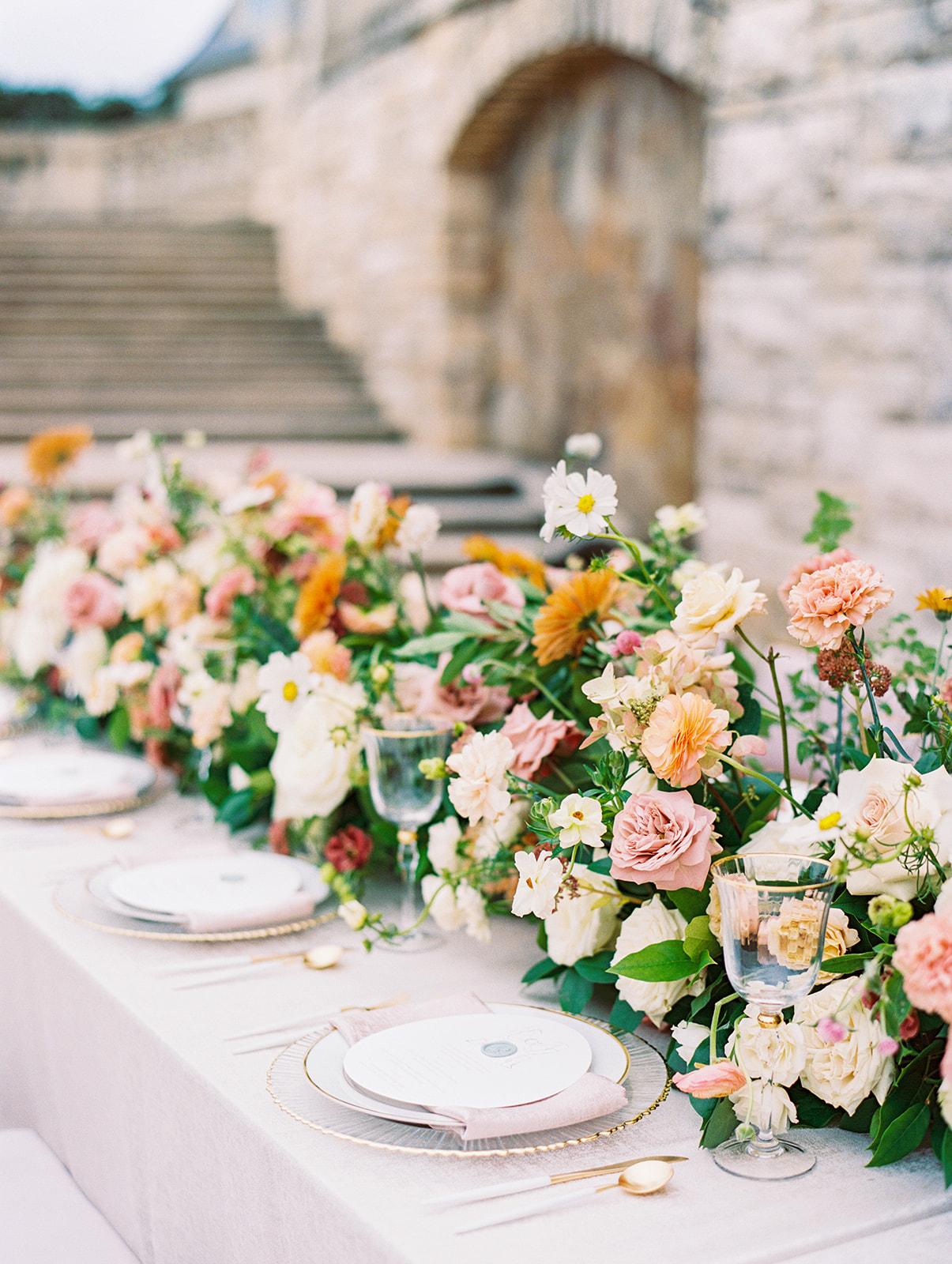 Blushington Blooms colorful wedding centerpieces   Alexa Kay Events