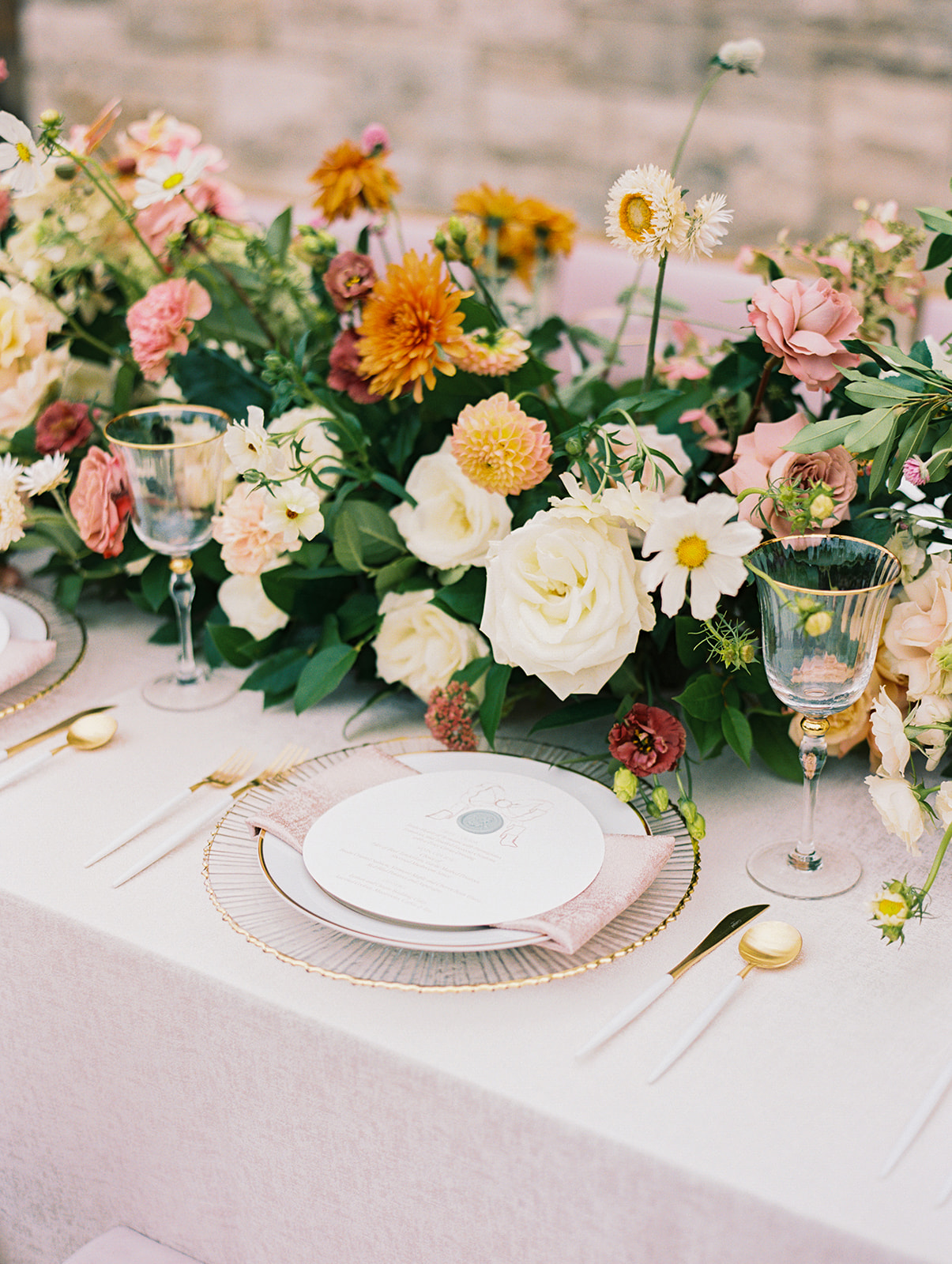 Colorful floral wedding centerpieces | Alexa Kay Events