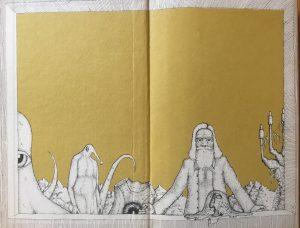 Regen auf Tyche - Innenseite Buchcover - Autor und Illustrator: Frank Töppe