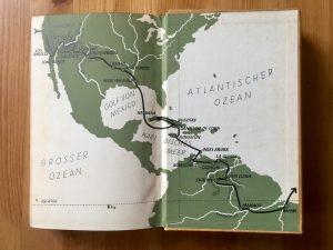 Ich radle um die Welt - Heinz Helfgen - Innenseite Reiseroute Teil 4