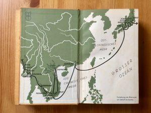Ich radle um die Welt - Heinz Helfgen - Innenseite Reiseroute Teil 3