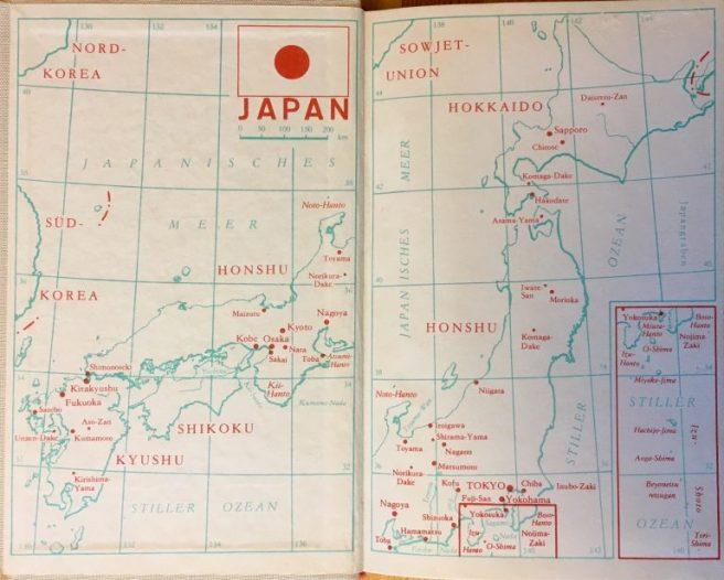 Japan sinkt - Sakyo Komatsu - Karte zur Orientierung auf der Innenseite