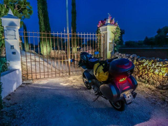Ankunft an der Masseria Alchimia in Fasano, Apulien, Italien. Foto: Alexander Baumbach