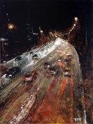 «Jian Guo Men bridge. Beijing», acrylic on canvas, palette knife, 80 x 60 cm, 北京 2016