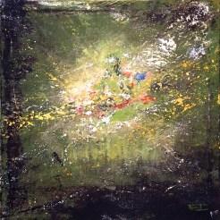 «Green Tara», acrylic on canvas, 60 x 60 cm, 北京 2016