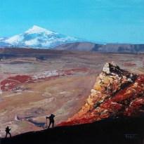 «Pilgrims. Inner Tibet series», acrylic on canvas, palette knife, 60 x 60 cm, 北京 2016
