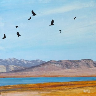 «The Birds. Inner Tibet series», acrylic on canvas, palette knife, 60 x 60 cm, 北京 2016
