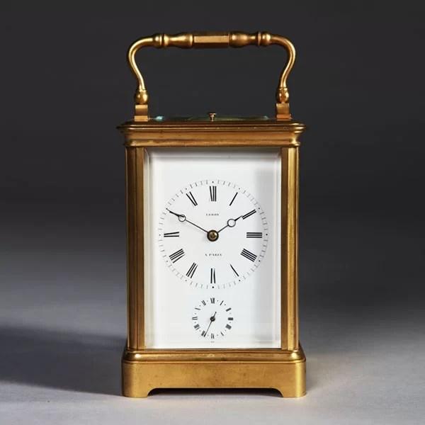 19th-Century Quarter-striking Carriage Clock by Leroy, Paris
