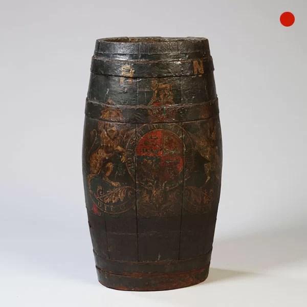 18th-Century Royal Navy Decorated Barrel