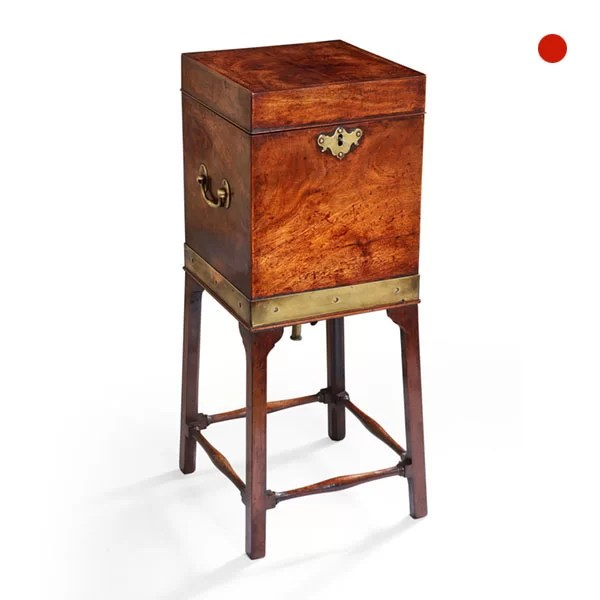 George III Mahogany Wine Cooler, Cellarette