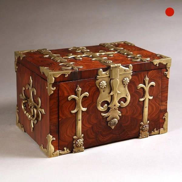 17th Century William and Mary Kingwood Strongbox