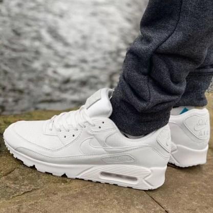 nike air max 90 white cn8490-100 bianco scarpe da uomo sneakers ebay alexander john shoes amazon