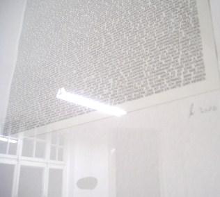 Wortpixel, 2010 (Detail mit Spiegelung)
