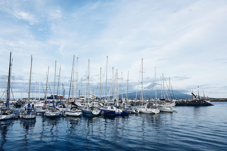 harbour of horta, azores
