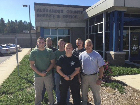 Pictured L-R:  Dep. Heath Pennell, SGT. Timothy Simms, Dep. Lee Hoyle, Dep. Chase Little, Dep. Jordan Barnes, Dep. Mike Bruce