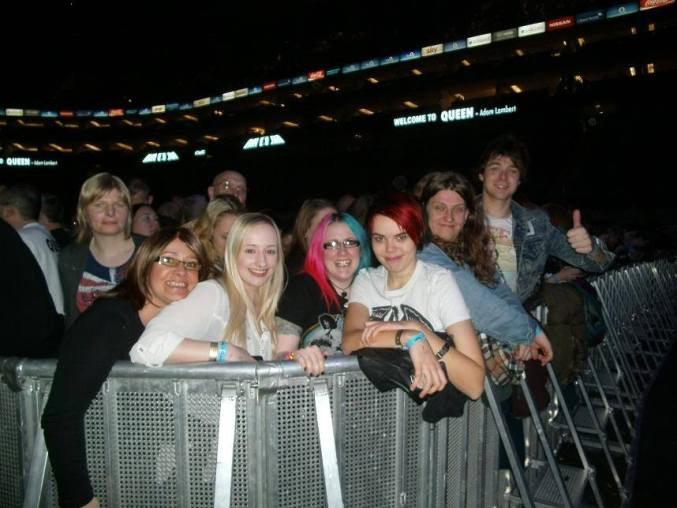 Front row happiness!