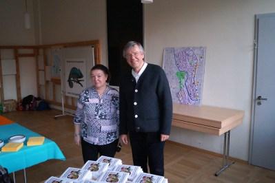 Alexander mit der Sprecherin des Bürgerbeirates Ilversgehofen, Uta Fischer