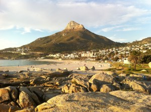 Camps Bay with Lions Head mountain