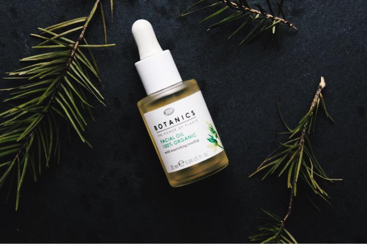 flat lay botanics facial oil
