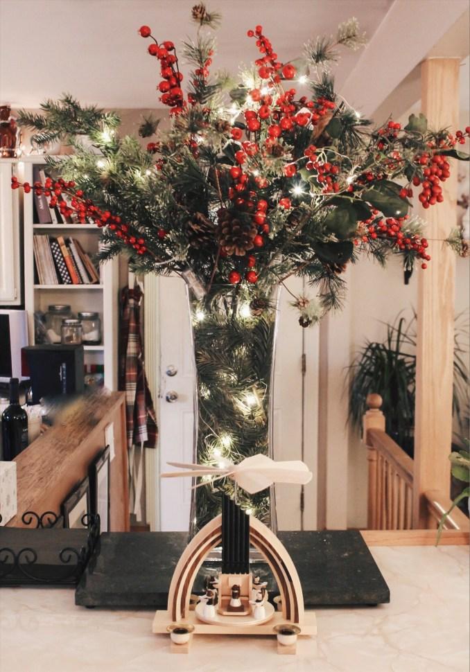 nelson homemade christmas centerpiece