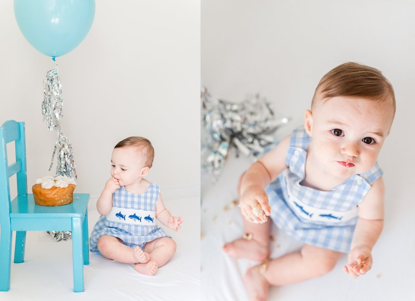 Alexandra Michelle Photography - 1 Year Cake Smash Portraits - Virginia - Summer 2019 - Tenney-40