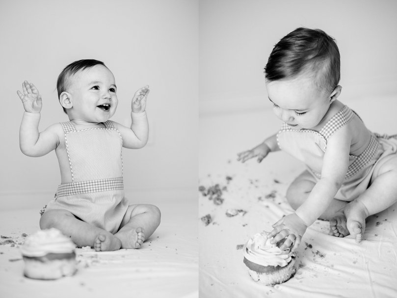 Alexandra Michelle Photography - 1 Year Cake Smash Portraits - Virginia - Summer 2019 - Tenney BW-117
