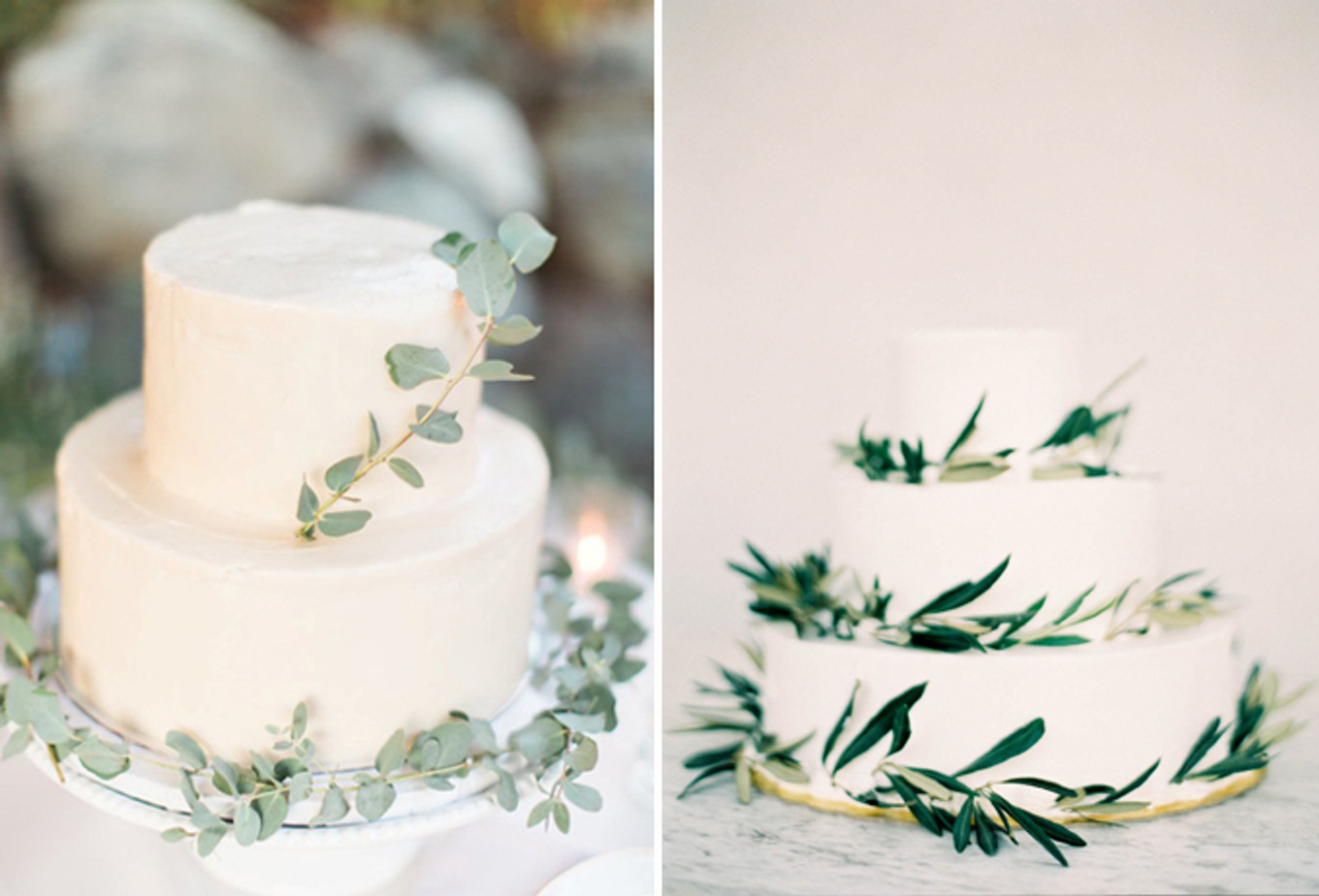 15 Mouthwatering Green Botanical Wedding Cake Ideas