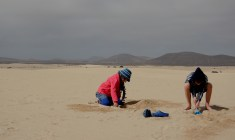 playing in dunes