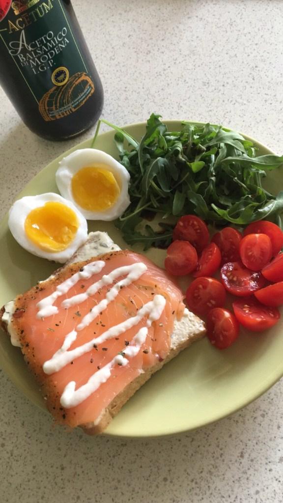Salmon brunch idea