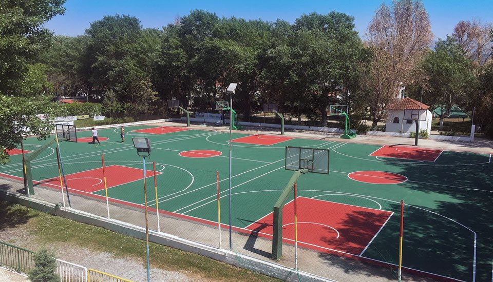 Παιδική Κατασκήνωση Alexandra Camp Basketball and Volleyball courts