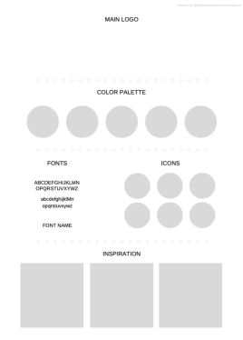 This is a template for Branding Board
