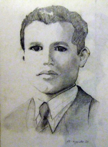 Abuelo Moncho (pencil drawing)- August, 2000