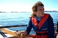 Jonas working that sail