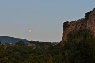 Full moon before the sunrise