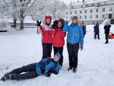 Snow balls in hand