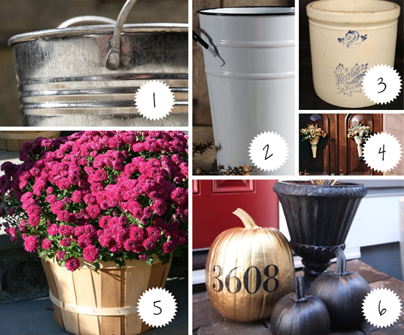 Fall containers to hold pretty things!