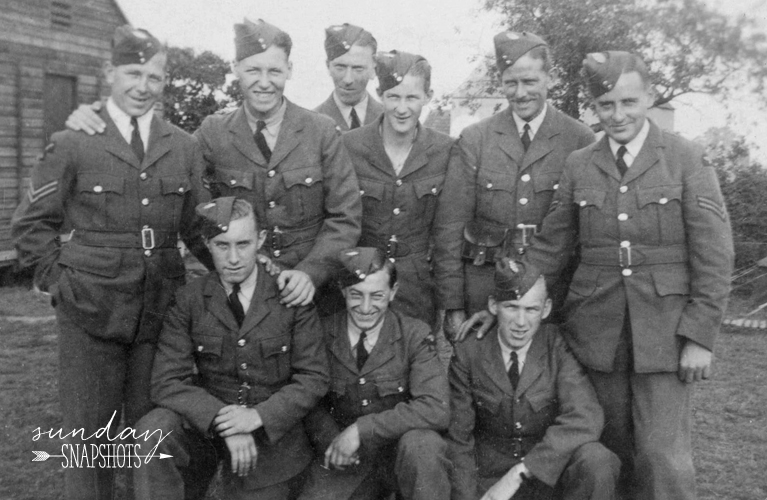 Sunday Snapshot 1943, British Pilots in Moncton New Brunswick, photo by Glenna Hare | Alex Inspired