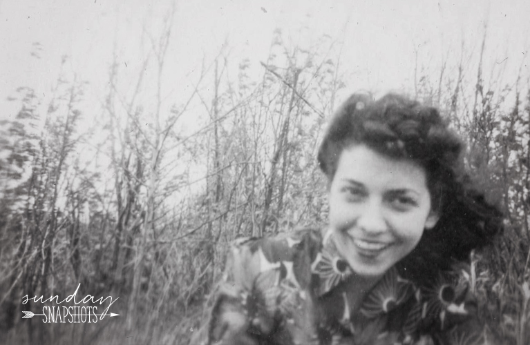 Friend of Glenna's in a field, New Brunswick 1943 photo by Glenna Hare | Alex Inspired