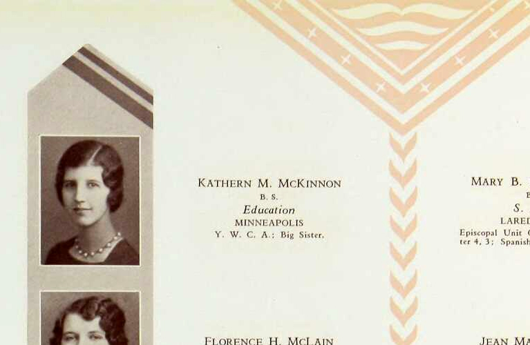 Kathern McKinnon Yearbook from University of Minnesota - 1930 | Alex Inspired - It's Kathern not Catherine