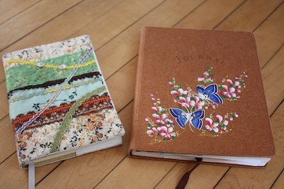 Photo of two journals