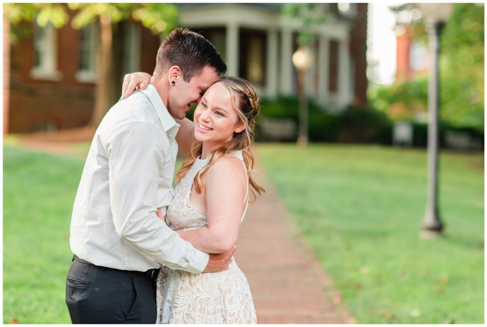 Downtown Annapolis Engagement Session at Saint Johns College