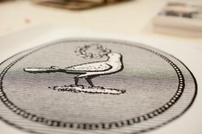 Detail, im Siebdruck von Hand gedruckt
