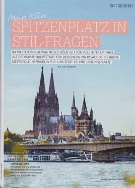 """Zeitschrift """"Living at home"""" 5/17 Design Köln"""