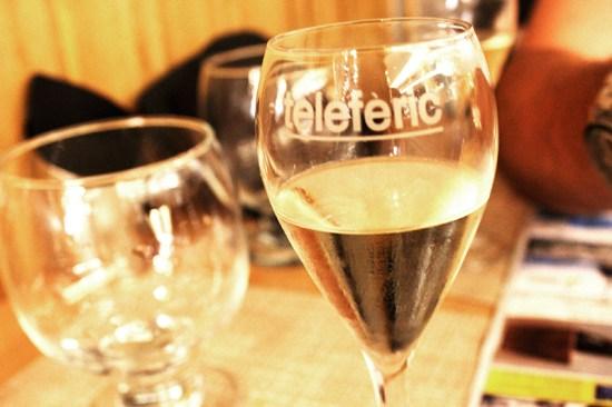 Barcelona - teleferic Champagne glass