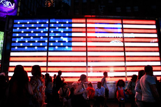 Times Square - American Flag