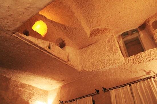 Cave Hotel in Cappadocia, Turkey - Ceiling light