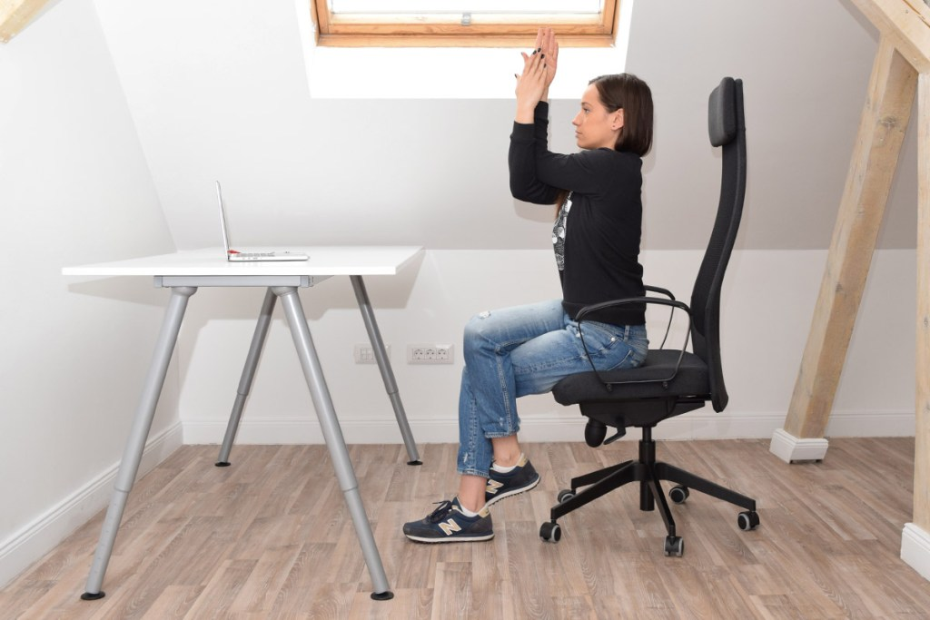 Chair Eagle Pose